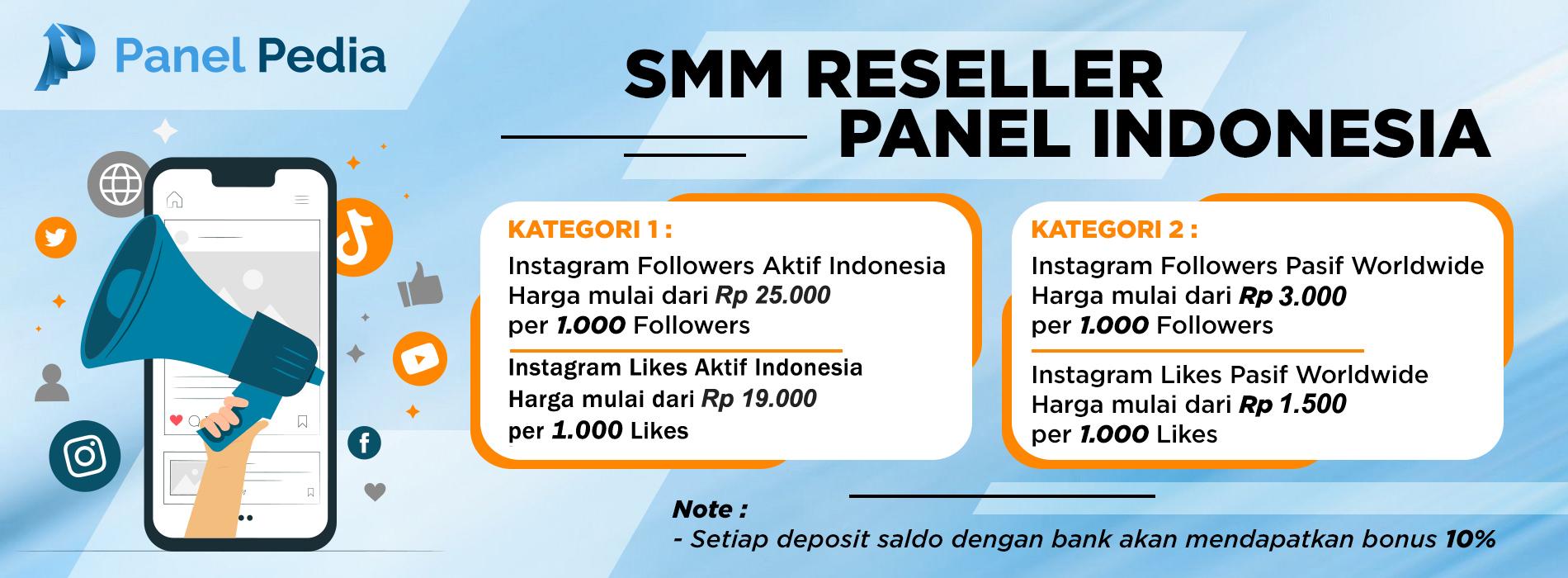 Panel Pedia Smm Reseller Panel Indonesia Termurah